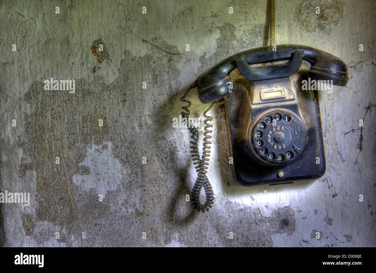An old telephone. - Stock Image