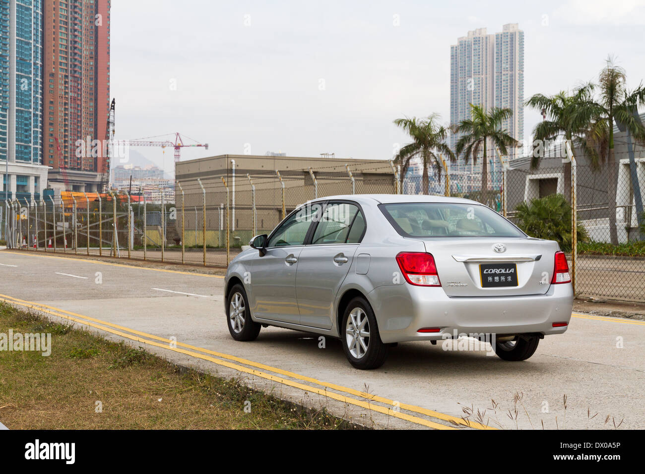 Toyota Corolla The entry level sedan in japan market - Stock Image