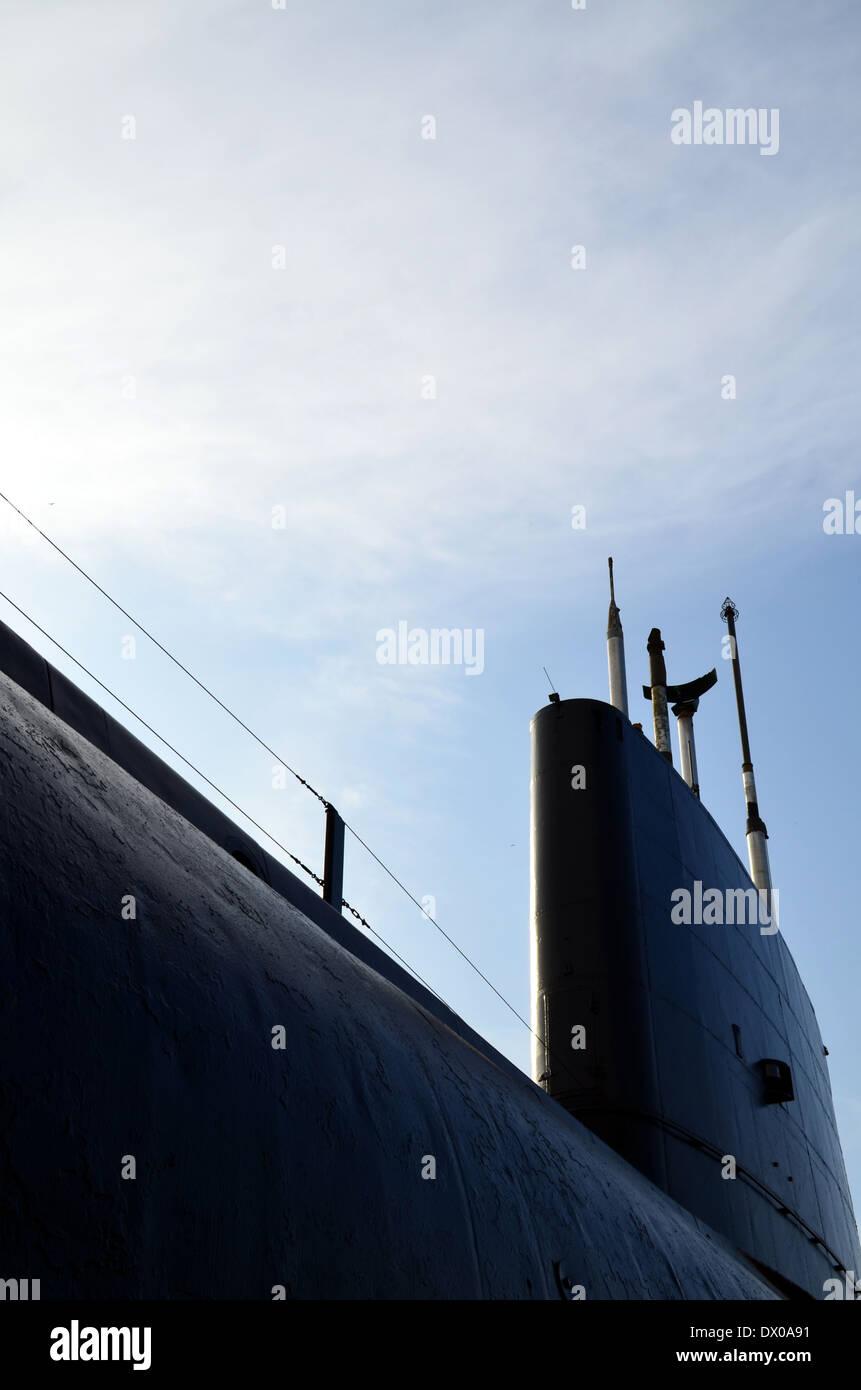 British Royal Navy Submarine. - Stock Image