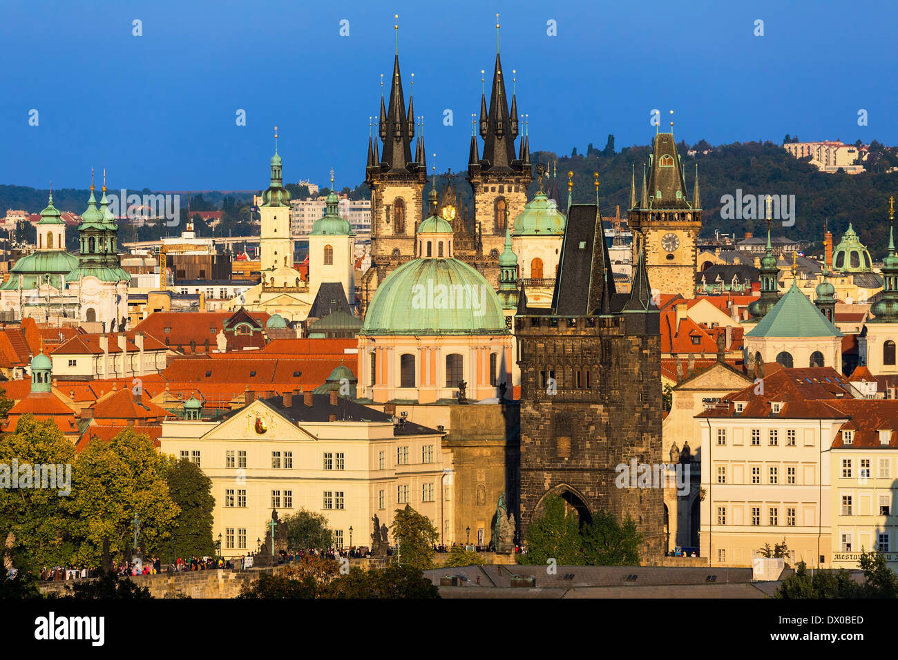 Czech Republic, Skyline of Prague - Stock Image