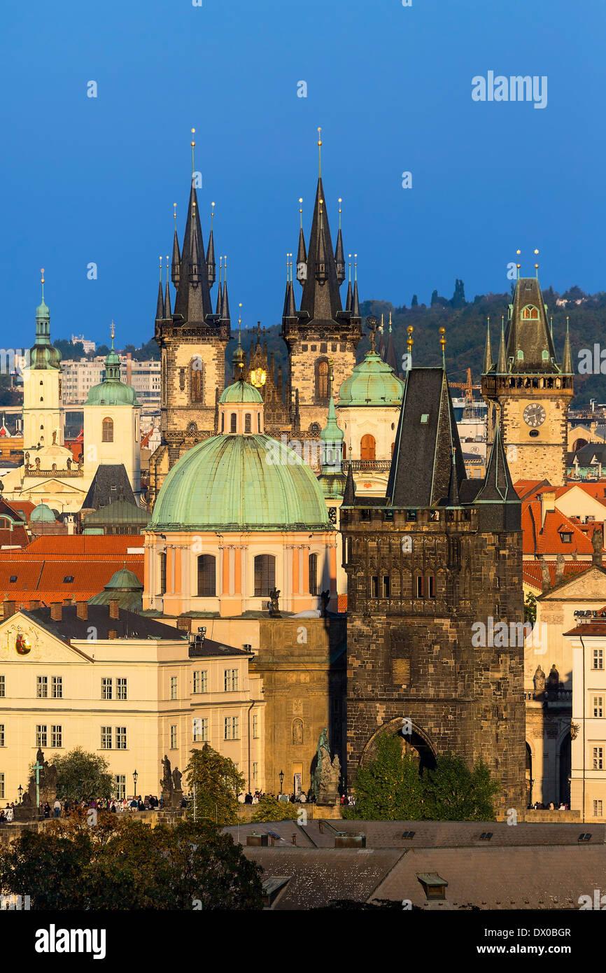 Prague, Skyline of Old Town - Stock Image