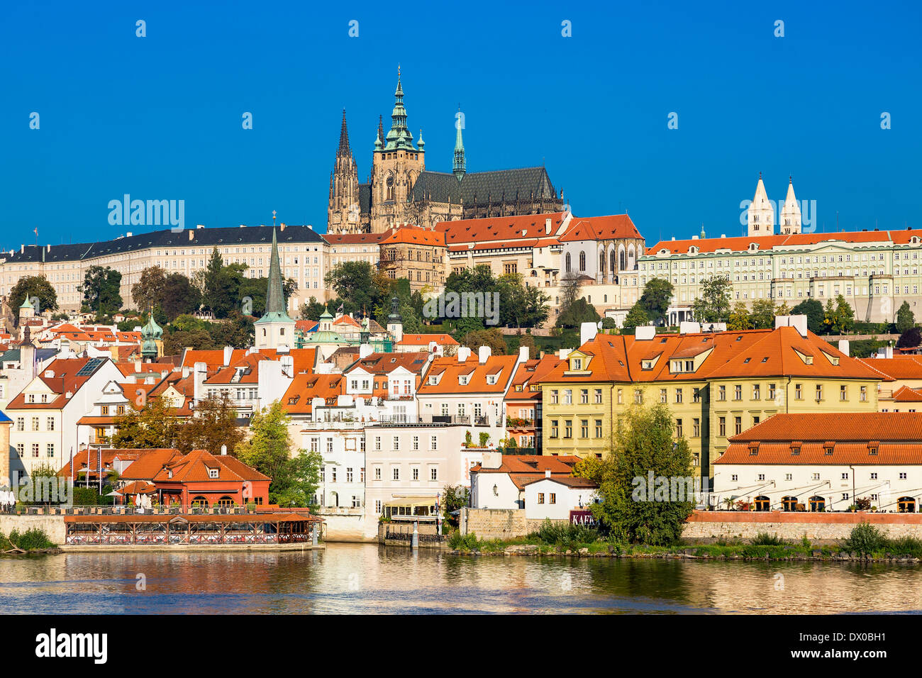 St Vitus's Cathedral and Castle of Prague - Stock Image