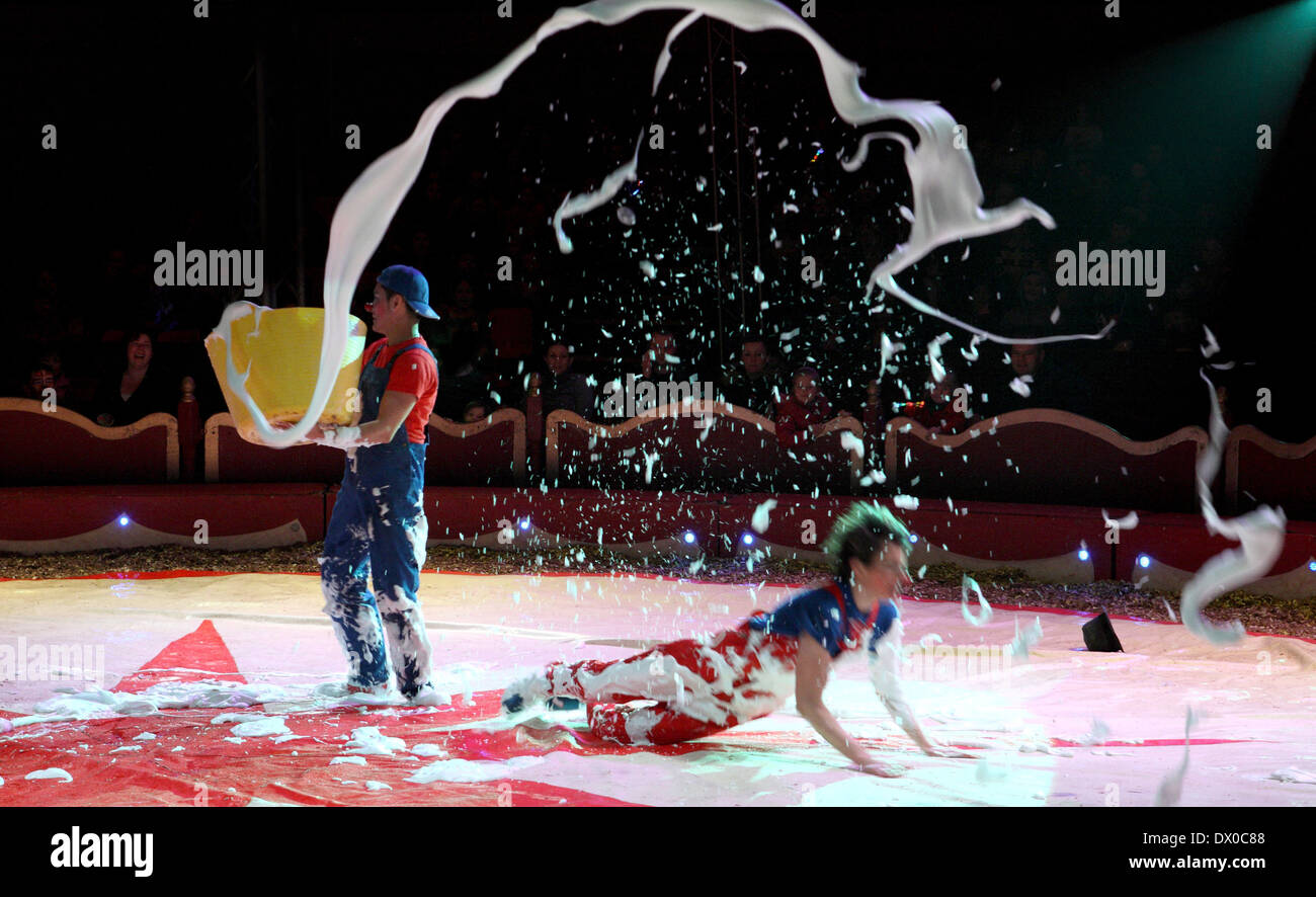 Circus clowns Stock Photo