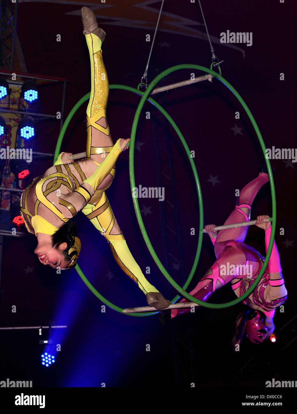 Circus performers - Stock Image
