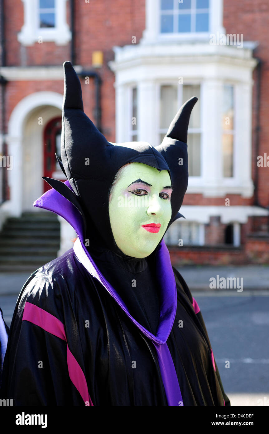 Nottingham, UK. 16th Mar, 2014. 16th March 2014.Hundreds of Sci-Fi fans descended on Nottingham's Albert Hall for first ever EM-CON convention .Guest included Craig Charles, Ben Miller, Danny John-Jules, and a host of other stars.Disney, Wicked fairy godmother 'Maleficent'.From sleeping Beauty. Credit:  Ian Francis/Alamy Live News - Stock Image