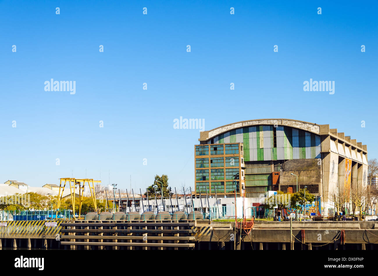 Old warehouse in La Boca neighborhood of Buenos Aires, Argentina - Stock Image