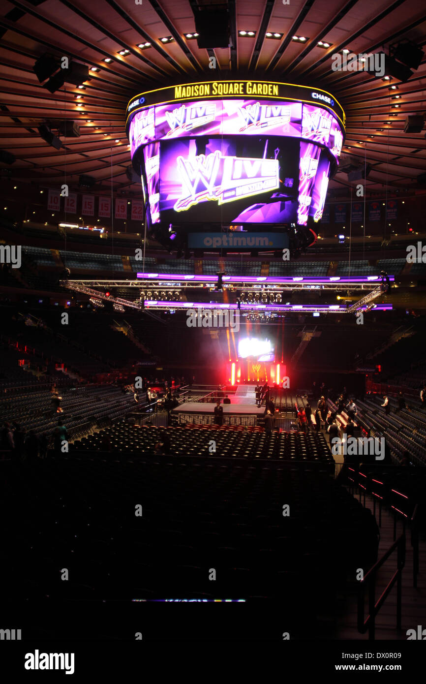 WWE Wrestling At Madison Square Garden.© 2014WWE Wrestling At Madison  Square Garden.© 2014 © Bruce Cotler/Globe Photos/ZUMAPRESS.com/Alamy Live  News