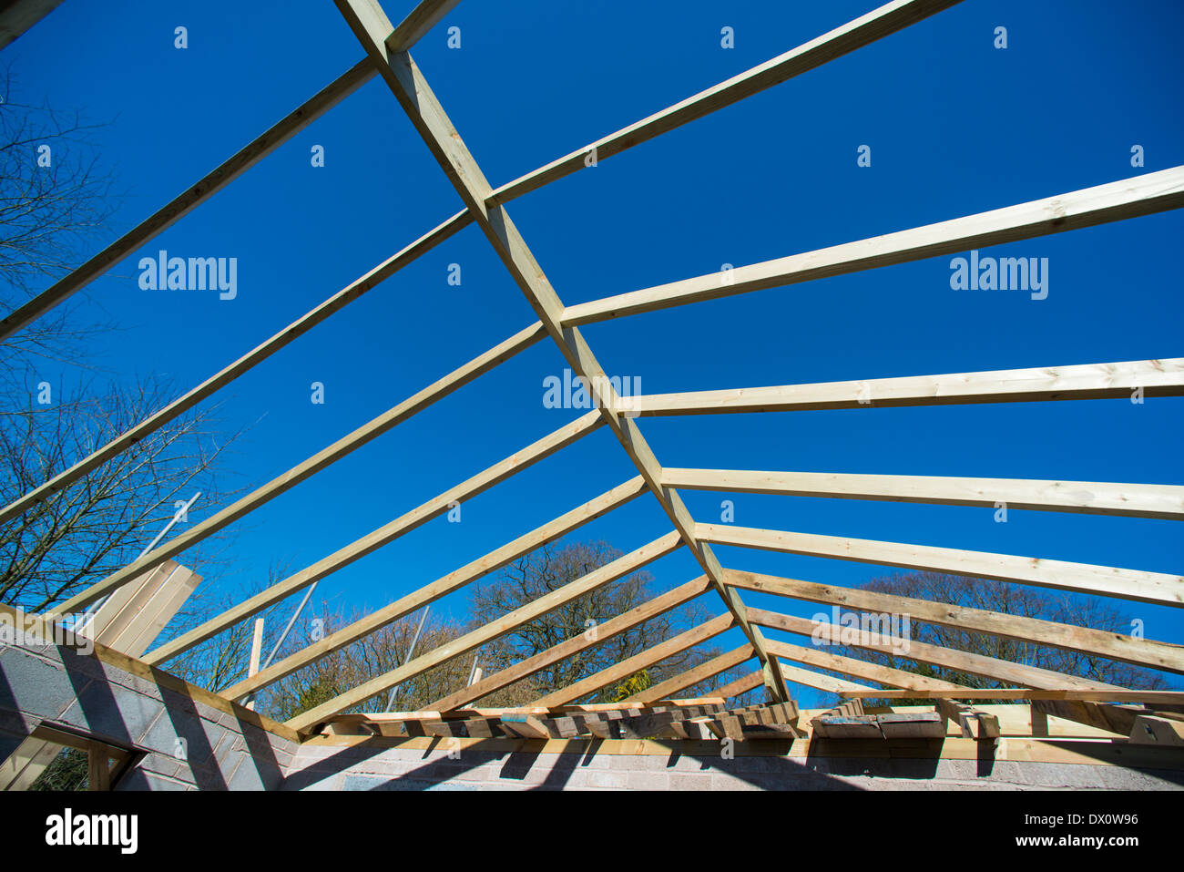Construction work on a house. - Stock Image