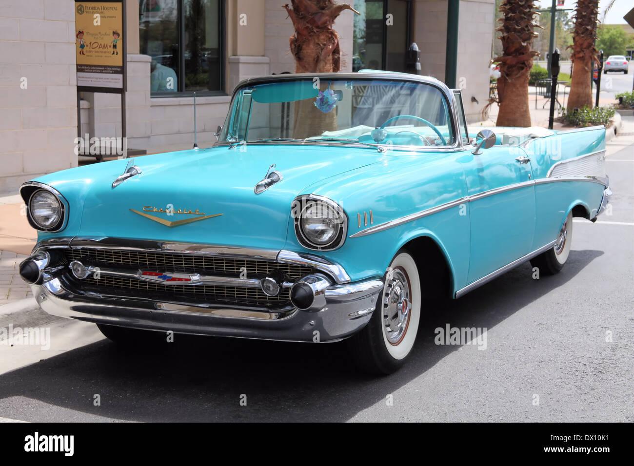 1957 Chevrolet Belair Stock Photos Chevy Bellaire Convertible Image