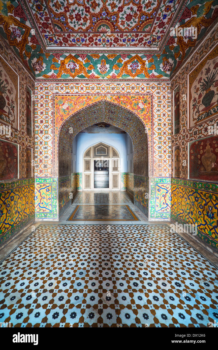 Entrance to Jahangir's Tomb Lahore Pakistan - Stock Image