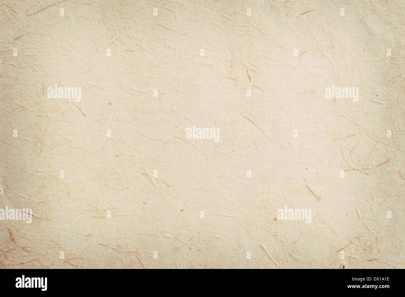 Sheet of old brown handmade paper - Stock Image