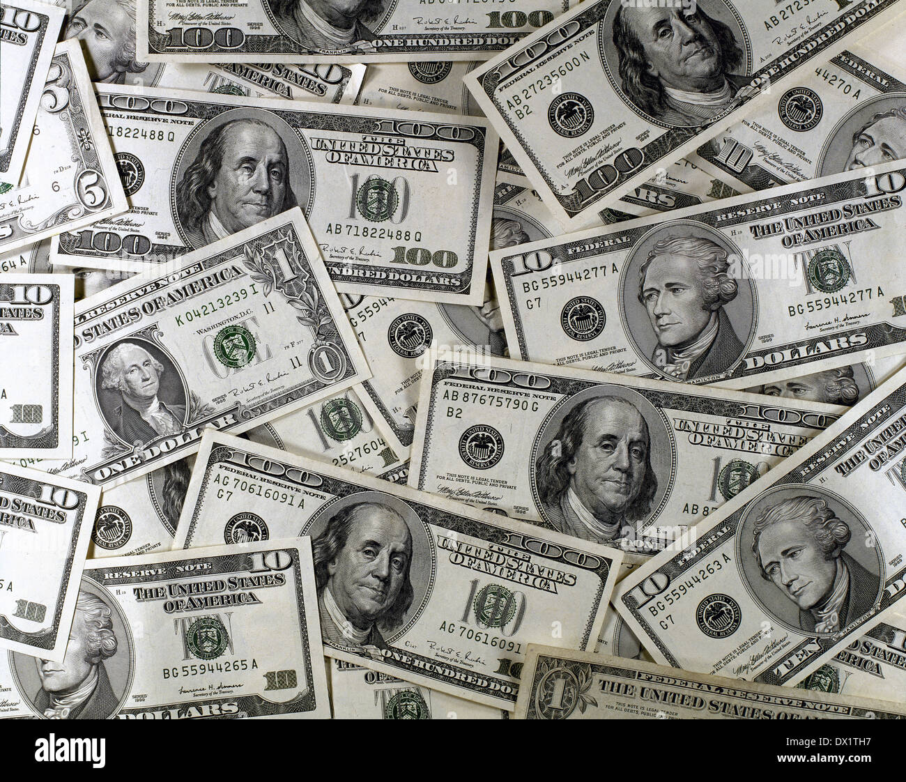 Still life of U.S. dollars. - Stock Image