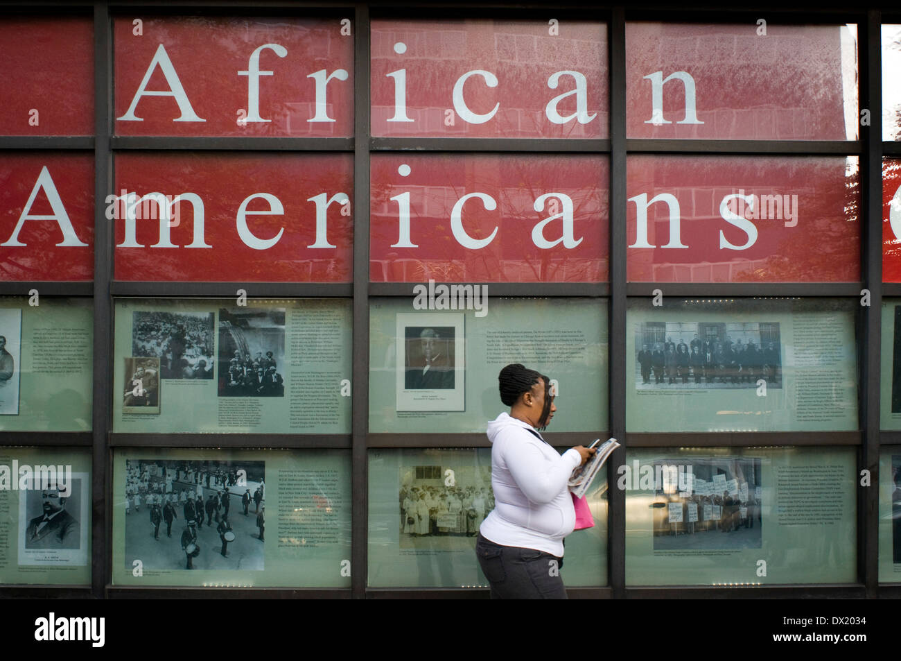 Exhibition of Africans Americans in the Museo del Barrio. 1230 Fifth Avenue and 104th Street. Telephone 212-831-7272. - Stock Image