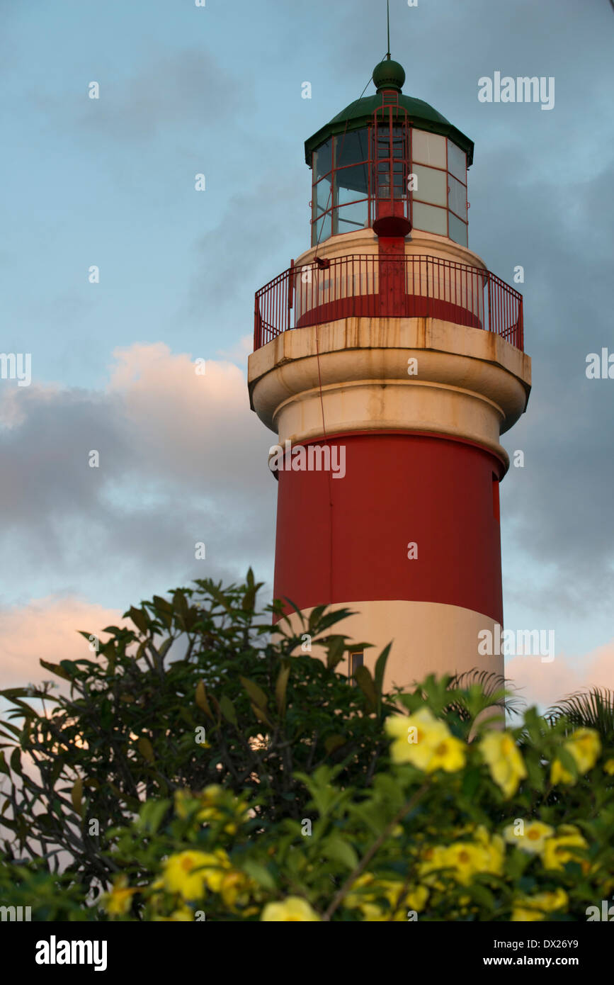 Lighthouse of Sainte Suzanne. SSAUPASS (Association for the Safeguarding of Sainte-Suzanne)Notes:This lighthouse - Stock Image