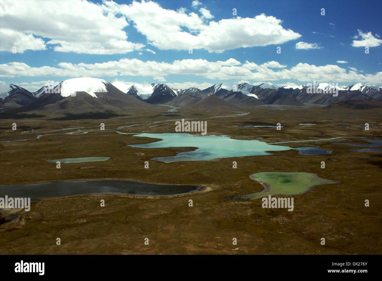Glacial lakes at Barskaun (Barskoon) pass, Terskey ridge, Tien-Shan, Kyrgyzstan Stock Photo