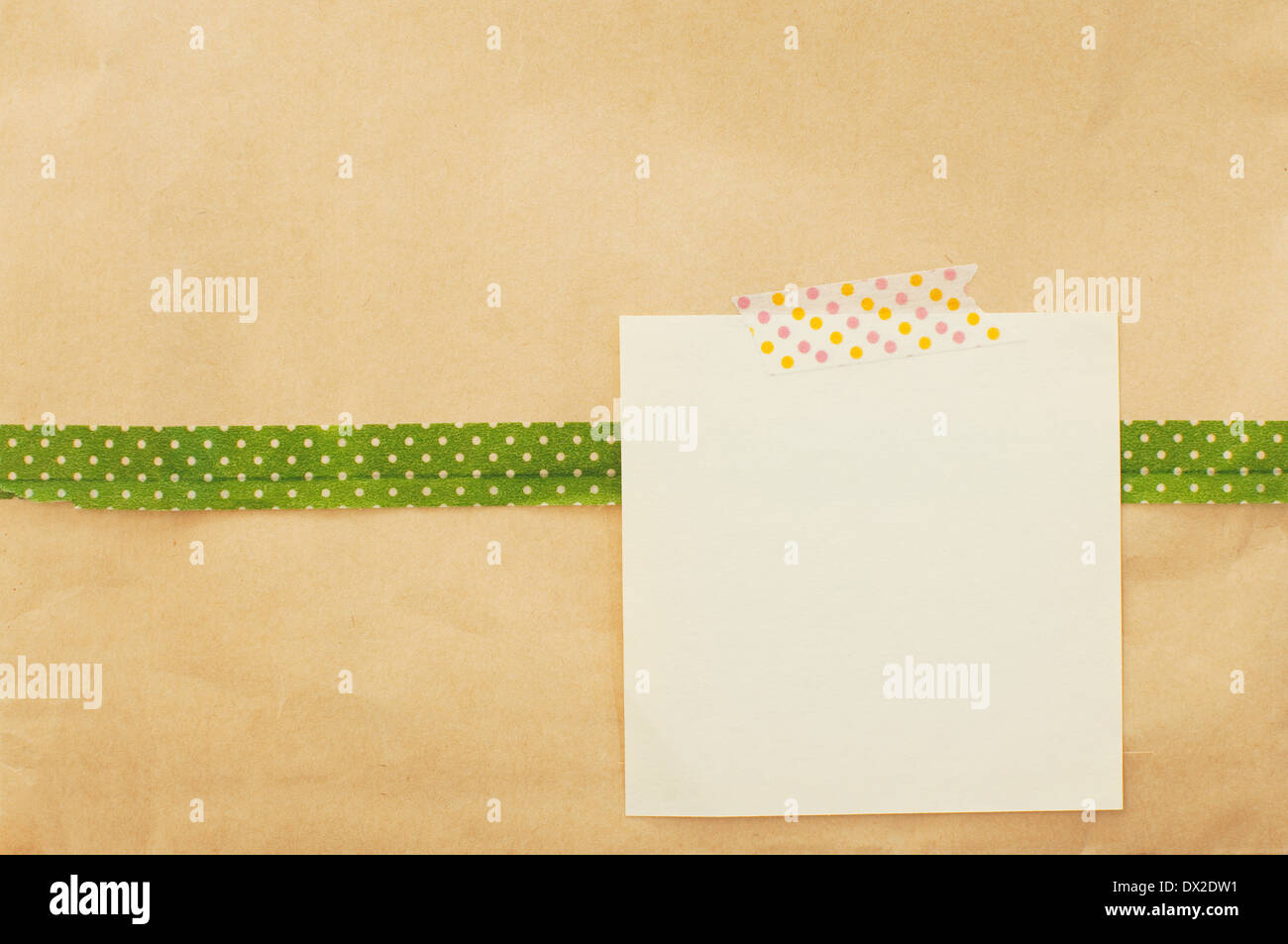 Memo Card On A Craft Paper Background Stock Photo 67666957 Alamy