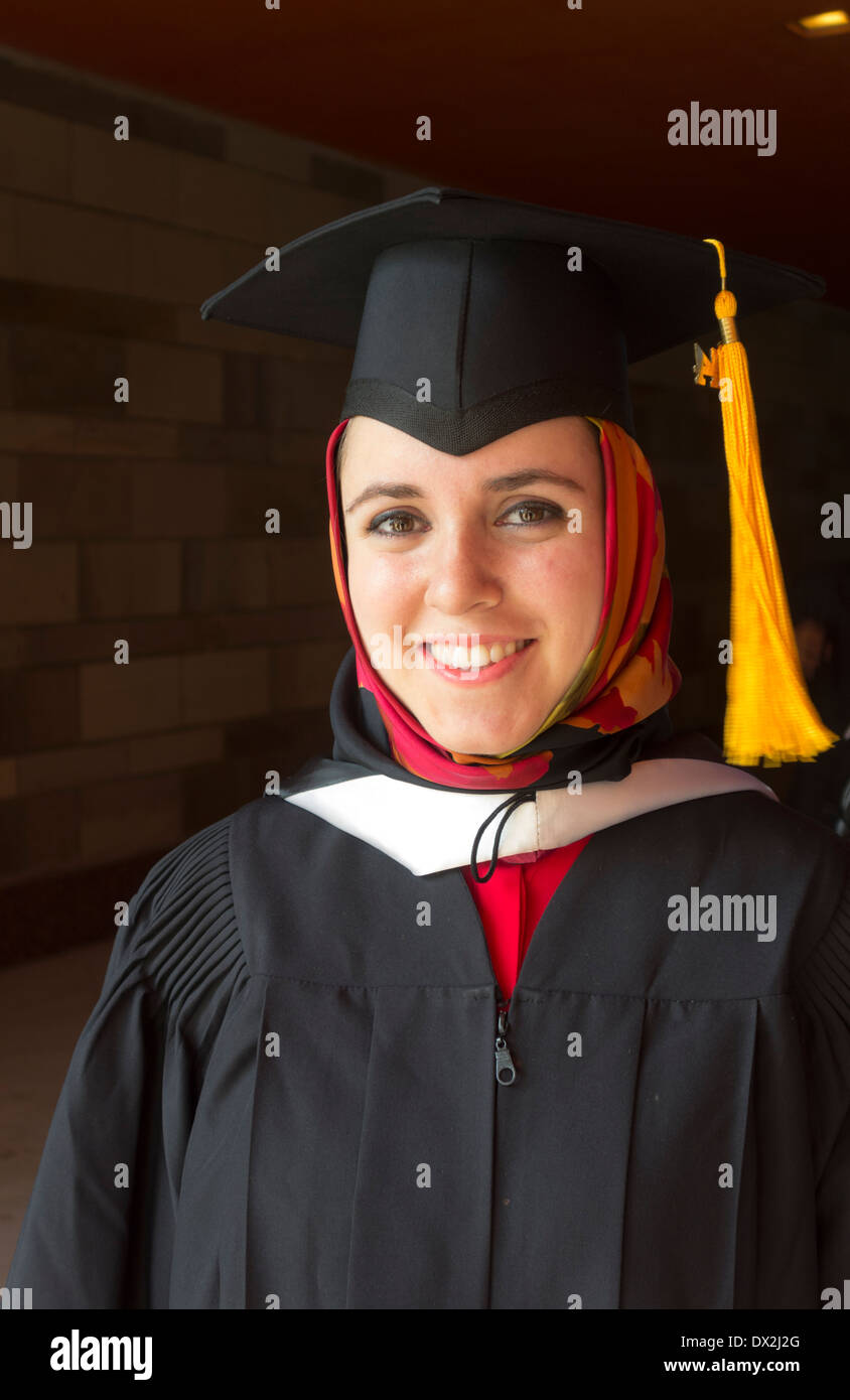 student graduate, American University in Cairo, Cairo, Egypt - Stock Image