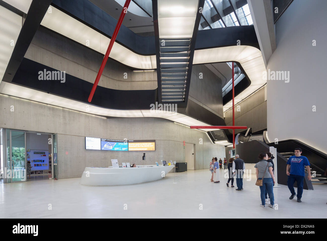 interior, the MAXXI – National Museum of the 21st Century Arts, Rome, Italy - Stock Image