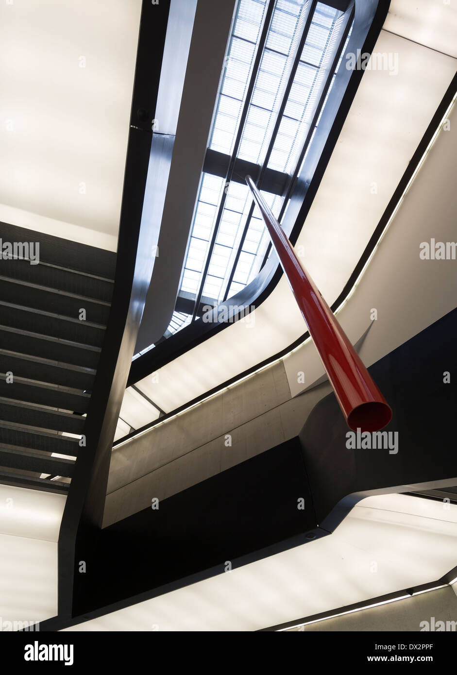 staircases, the MAXXI – National Museum of the 21st Century Arts, Rome, Italy - Stock Image