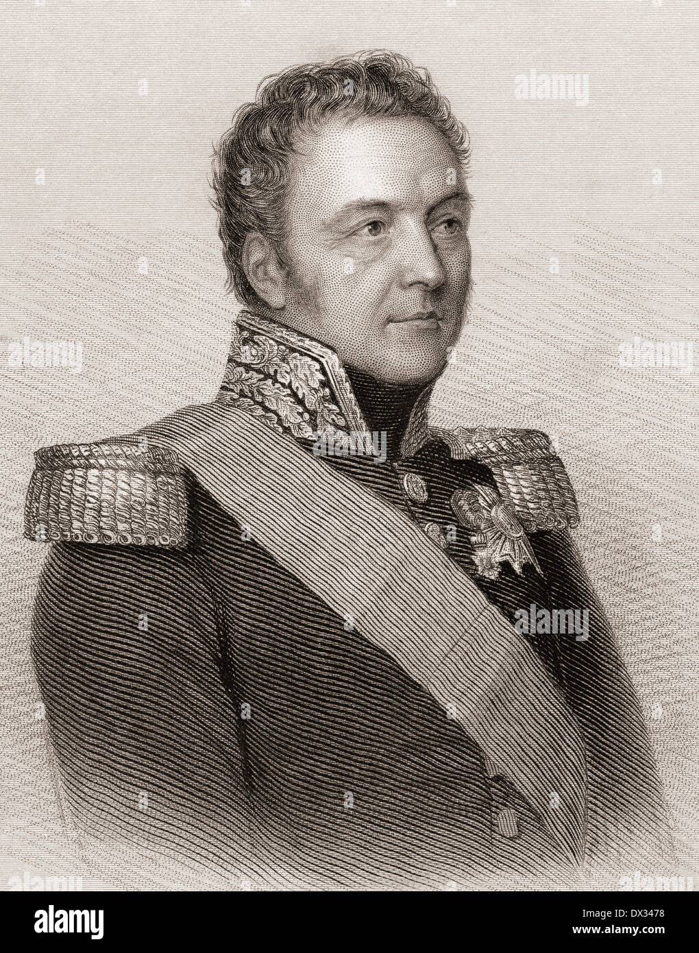 Bertrand, Count Clausel (or Clauzel) 1772 –1842. Marshal of France. - Stock Image