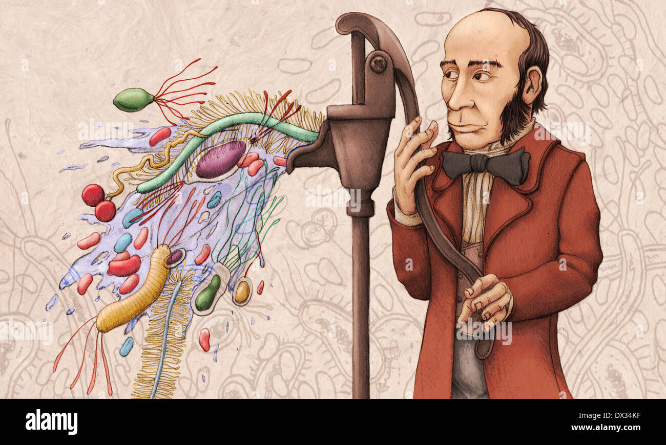 Editorial Illustration of physician John Snow, considered a father of modern epidemiology. - Stock Image