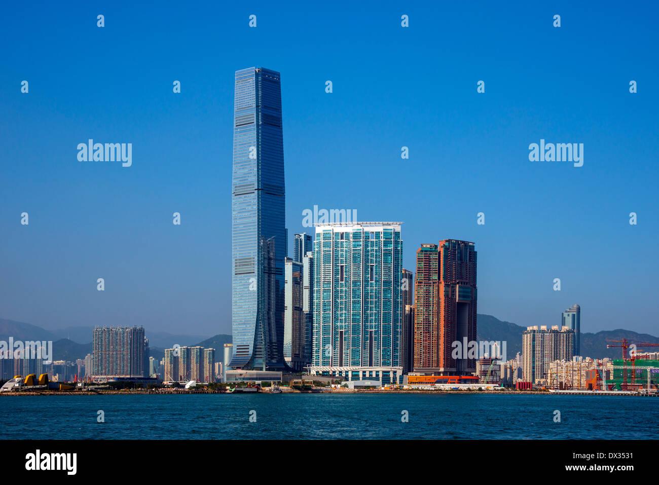 ICC, Kowloon, Hong Kong - Stock Image