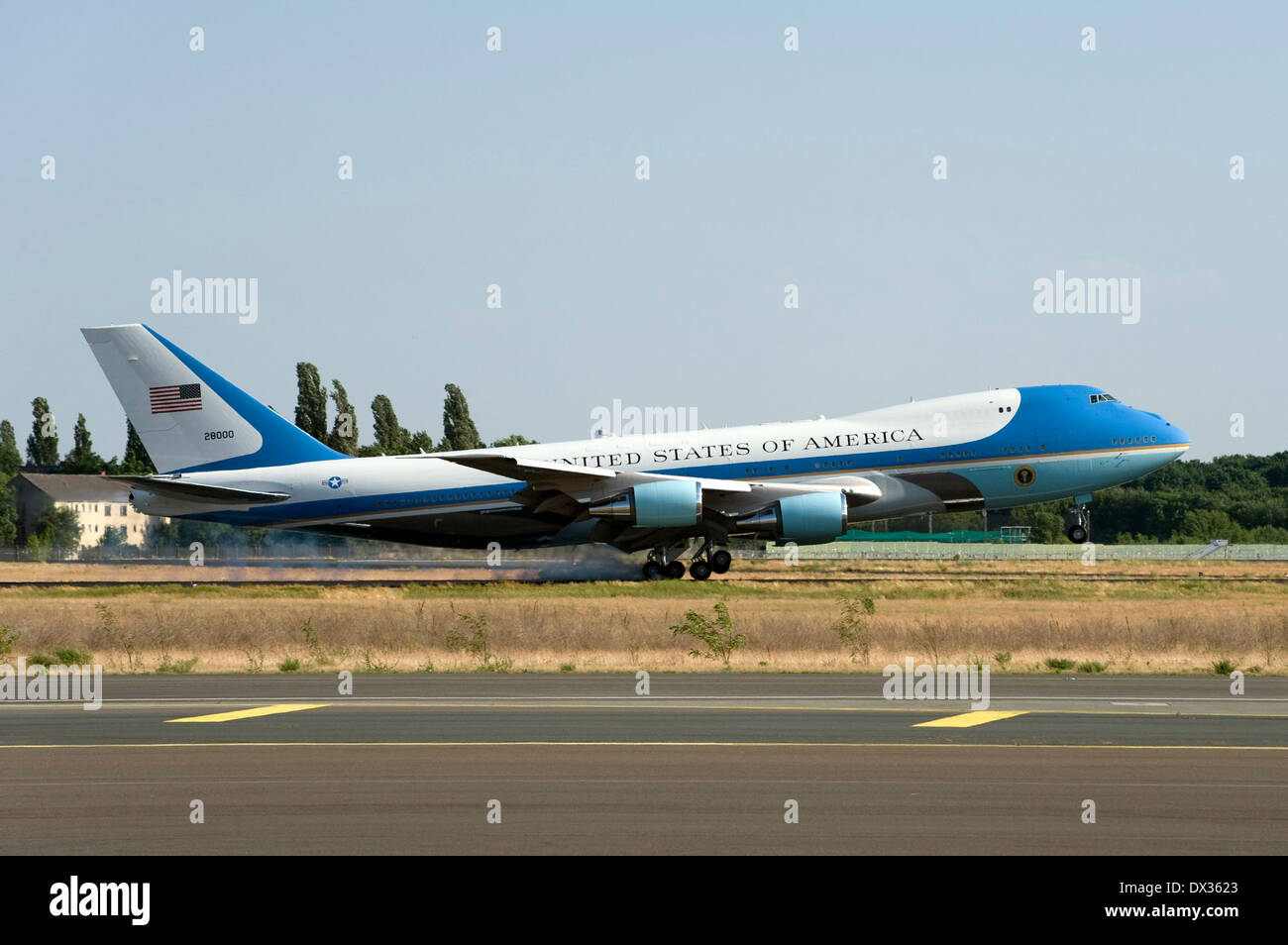 landing Air Force One - Stock Image