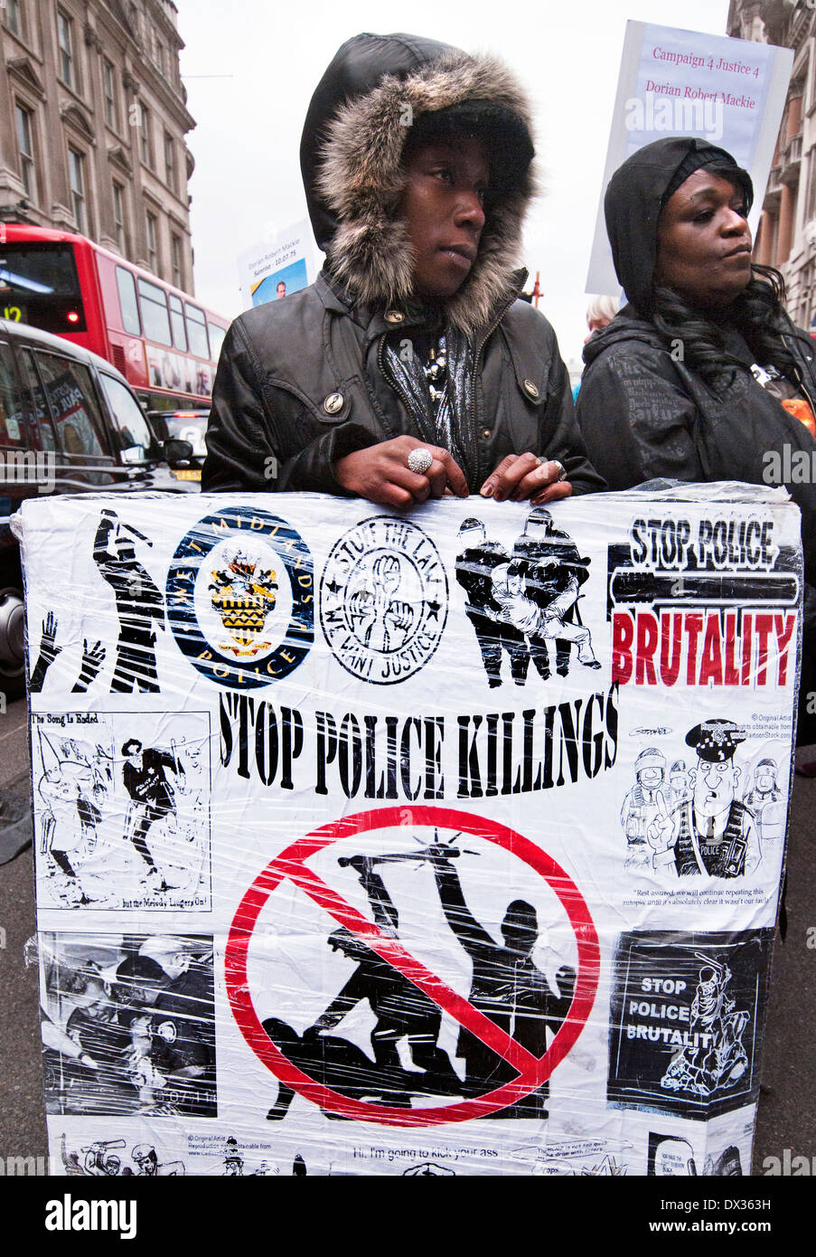 United Families and Friends Campaign (UFFC), a coalition of families and friends of those that have died suspicious circumstance - Stock Image