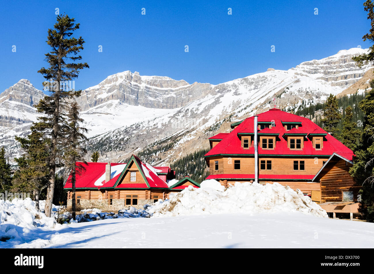 Num ti jah Lodge, Bow Lake, Banff National Park, Alberta, Canada - Stock Image