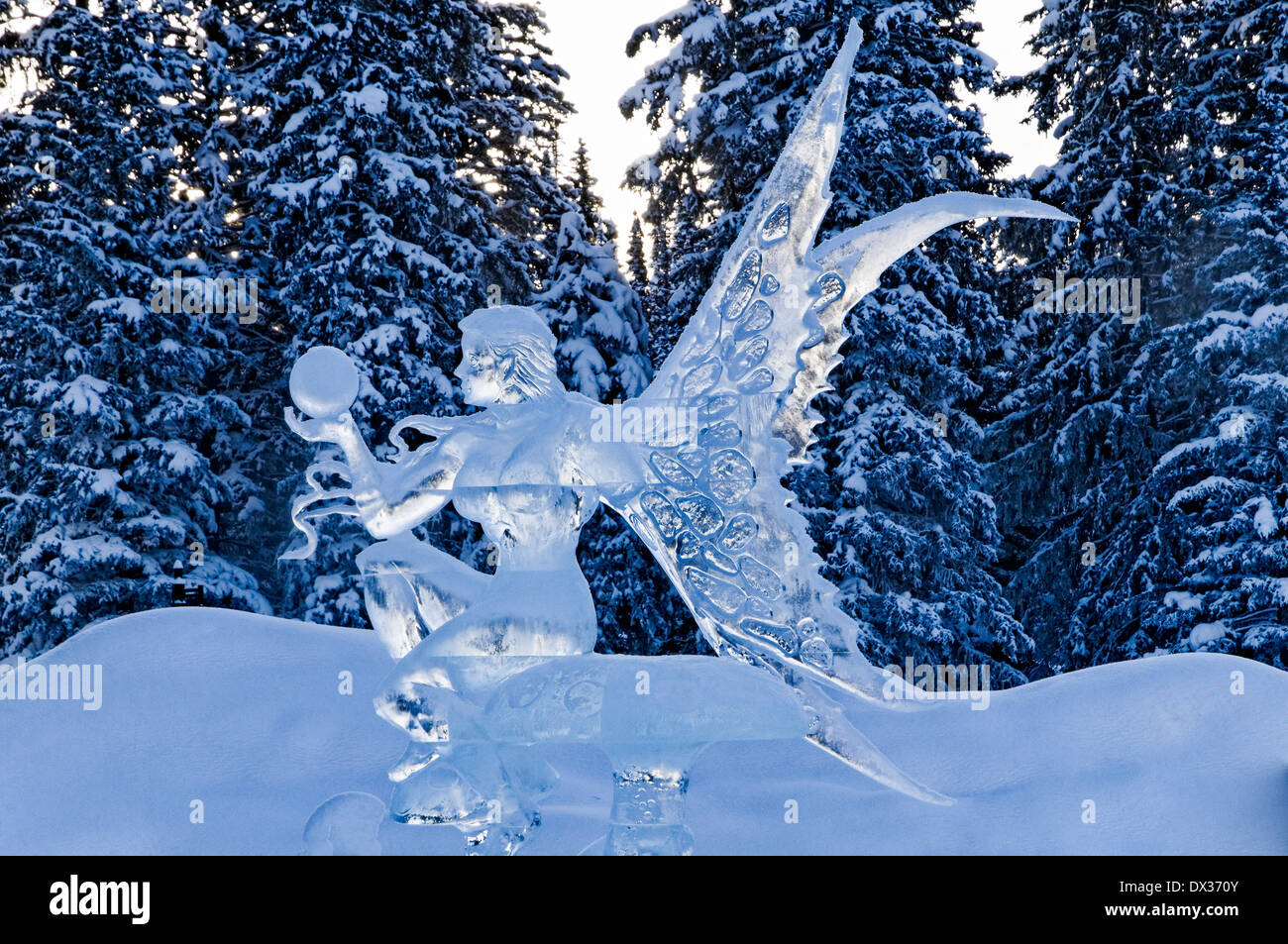 ice magic festival lake louise banff national park alberta