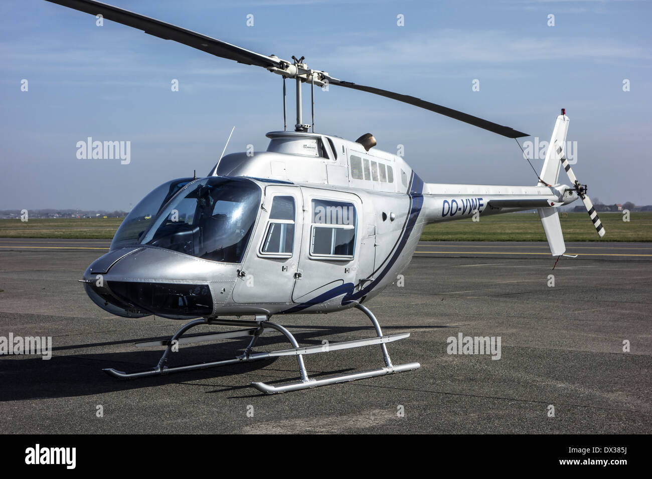 Five-place Augusta AB-206B JetRanger II helicopter - Stock Image