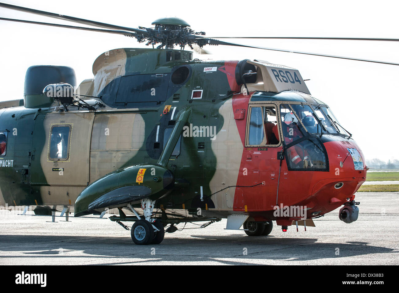 Westland Sea King MK48 SAR helicopter, search and rescue version for the Belgian Air Force / Belgian Air Component - Stock Image