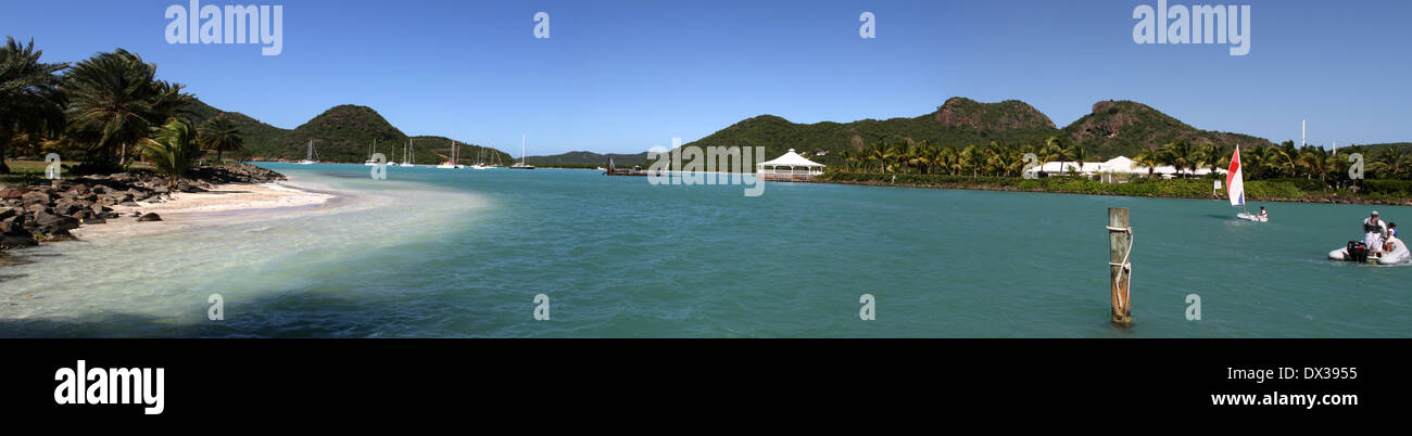 Jolly Harbour Panorama - Stock Image