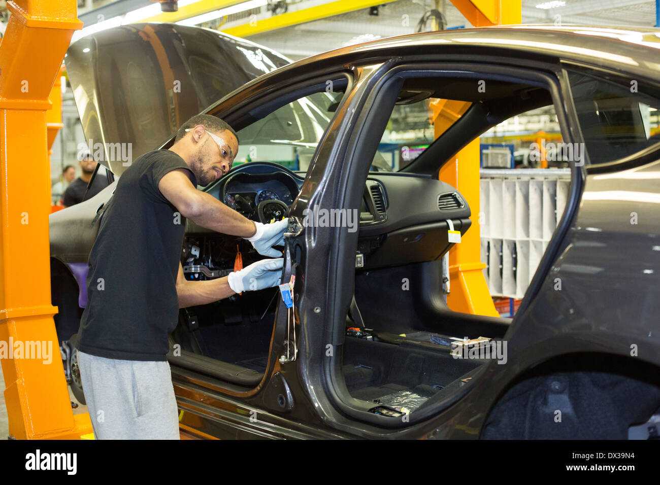 Chrysler's Sterling Heights Assembly Plant, where the Chrysler 200 is assembled. - Stock Image