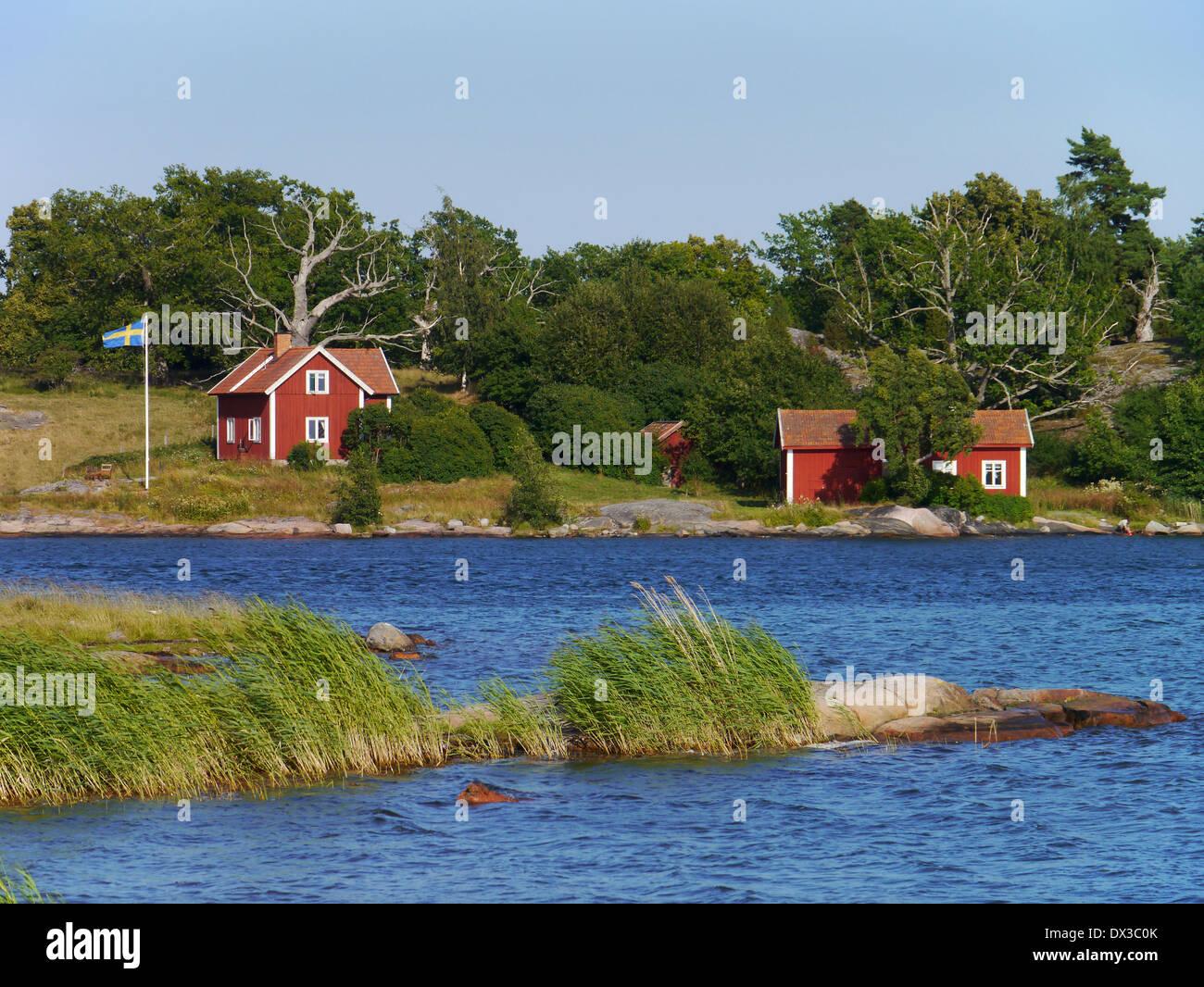 stendörren, stockholm archipelago, södermanlands län, sweden - Stock Image