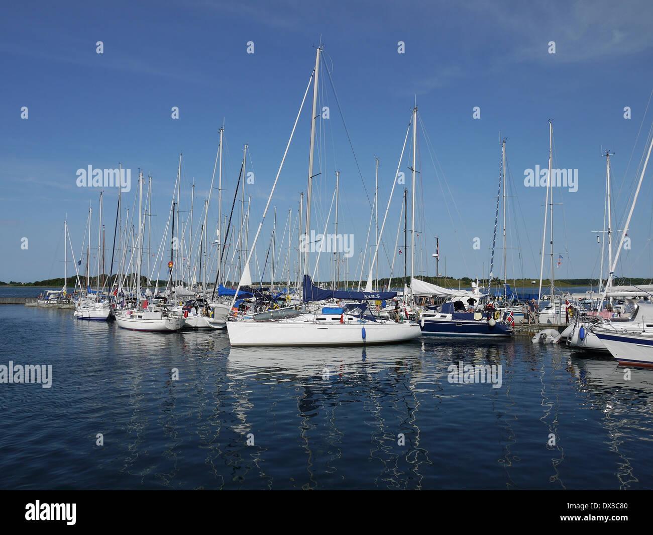 port at samsø, kattegat, denmark - Stock Image