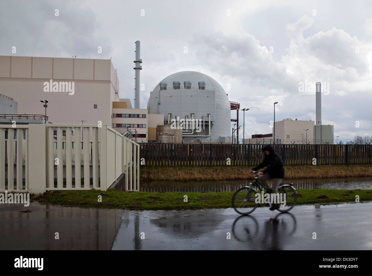 Brokdorf nuclear power plant - Stock Image