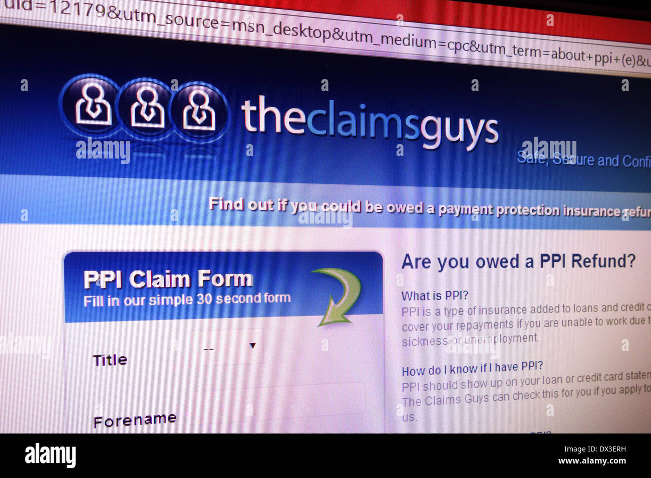 Ppi stock photos ppi stock images alamy the claims guy ppi claims website stock image spiritdancerdesigns Gallery
