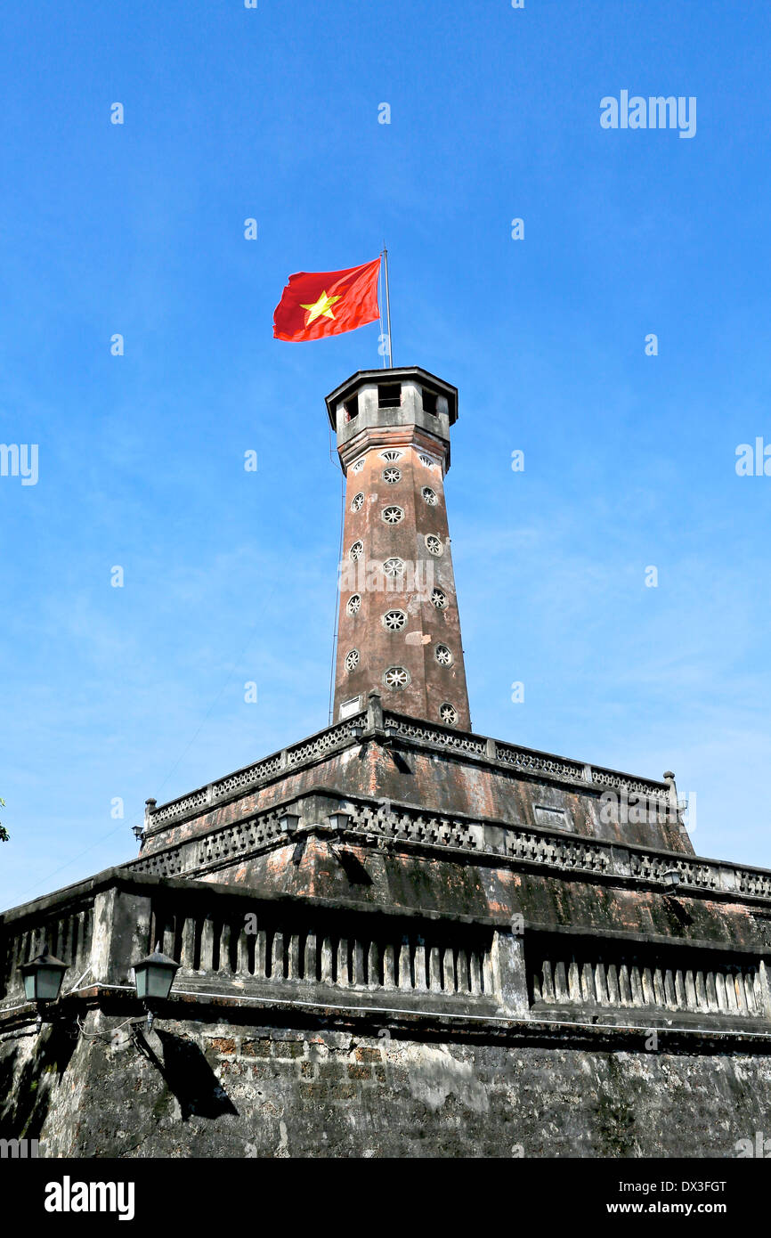 The hexagonal tower at the Vietnam Military History Museum, Hanoi, Vietnam, South East Asia - Stock Image