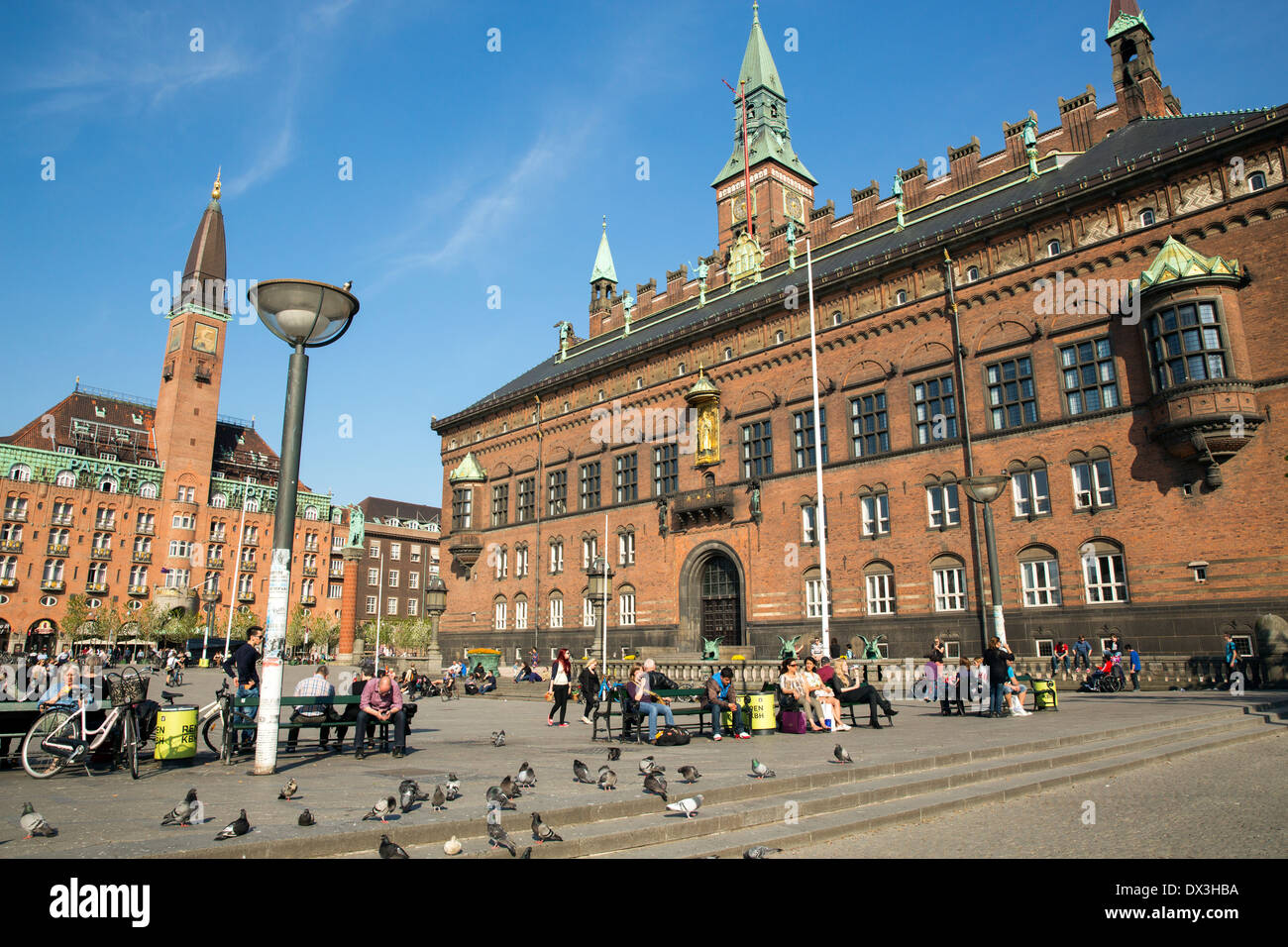 radhuspladsen is a large public square in the centre of copenhagen stock photo 67691662 alamy. Black Bedroom Furniture Sets. Home Design Ideas