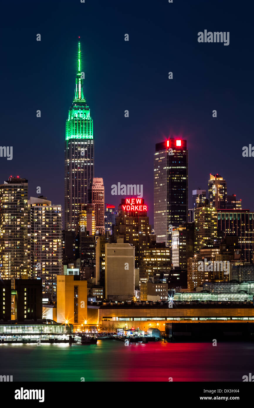 Empire State Building by night - Stock Image