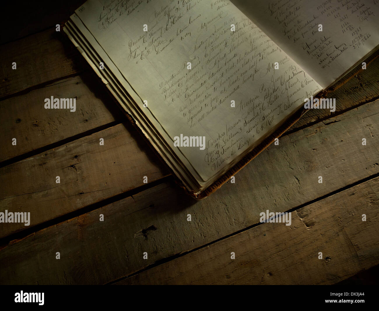 Old Hand Written Journal Diary - Stock Image
