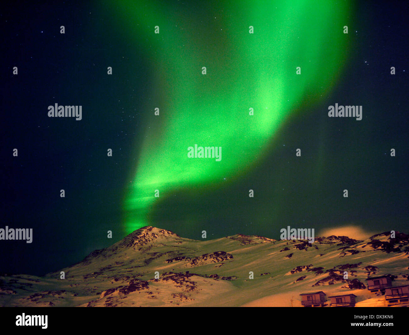 northern lights, aurora borealis, honningsvåg, magerøya, finnmark, norway - Stock Image