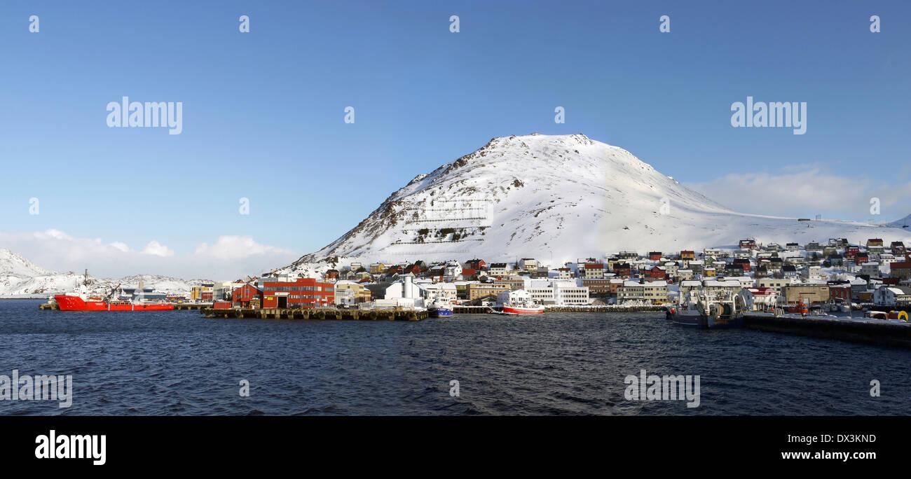 honningsvåg, magerøya, finnmark, norway - Stock Image