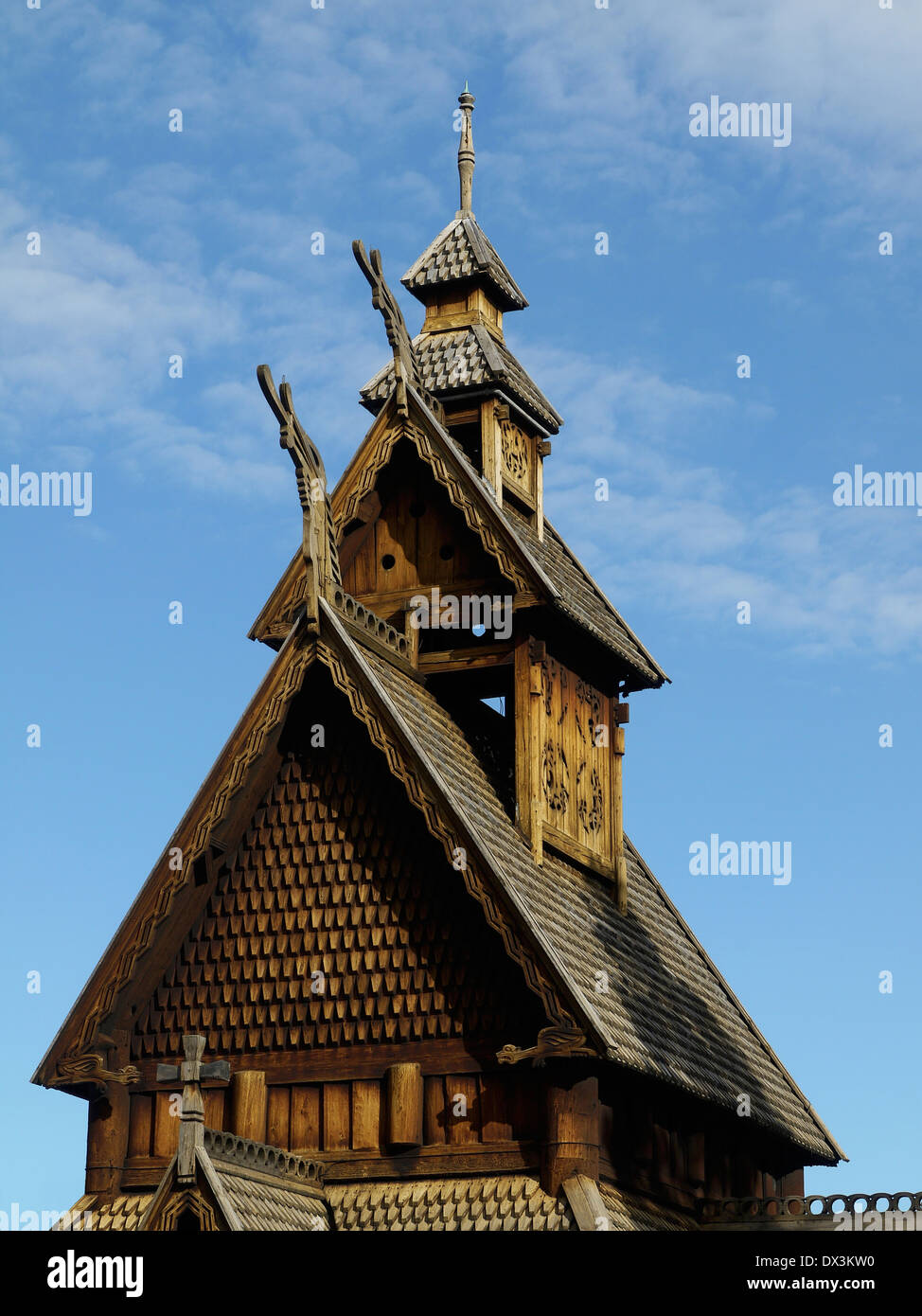 stave church, oslo, norway - Stock Image