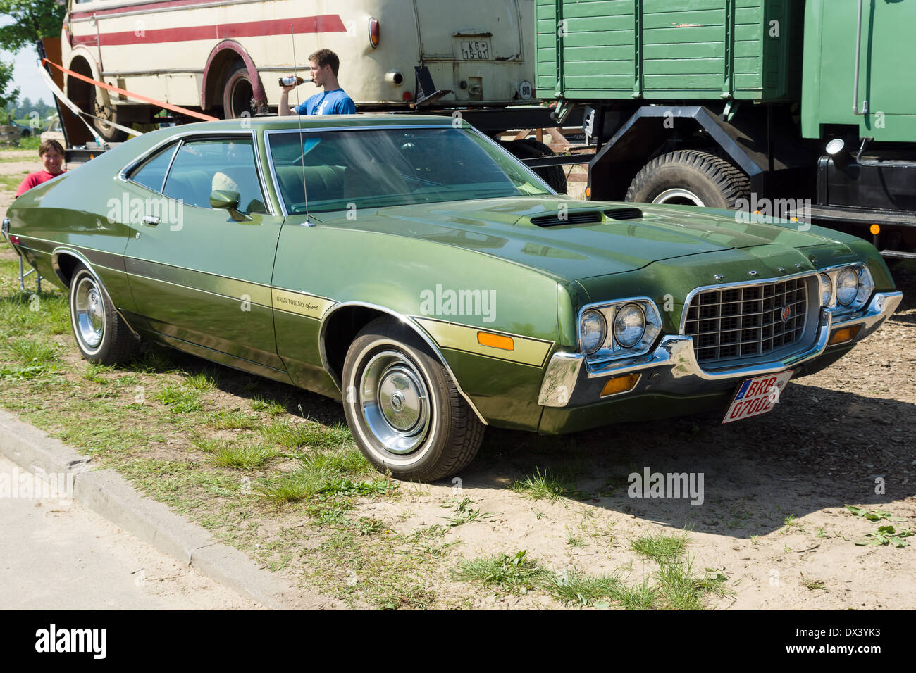 Mid Size Car Ford Gran Torino Sport Sportsroof Stock Image