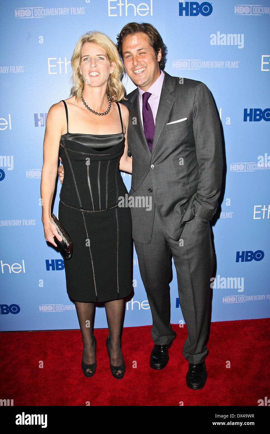 Rory Kennedy and Mark Bailey The premiere of the HBO Documentary 'Ethel' held at the Time Warner Center - Arrivals Featuring: R - Stock Image
