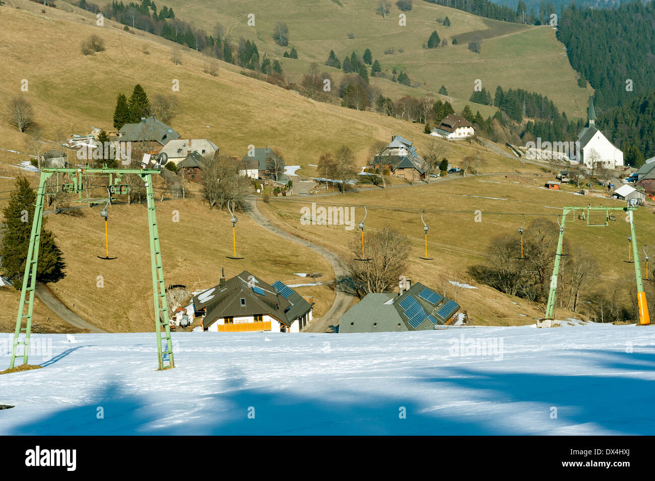 Lack of snow - Stock Image