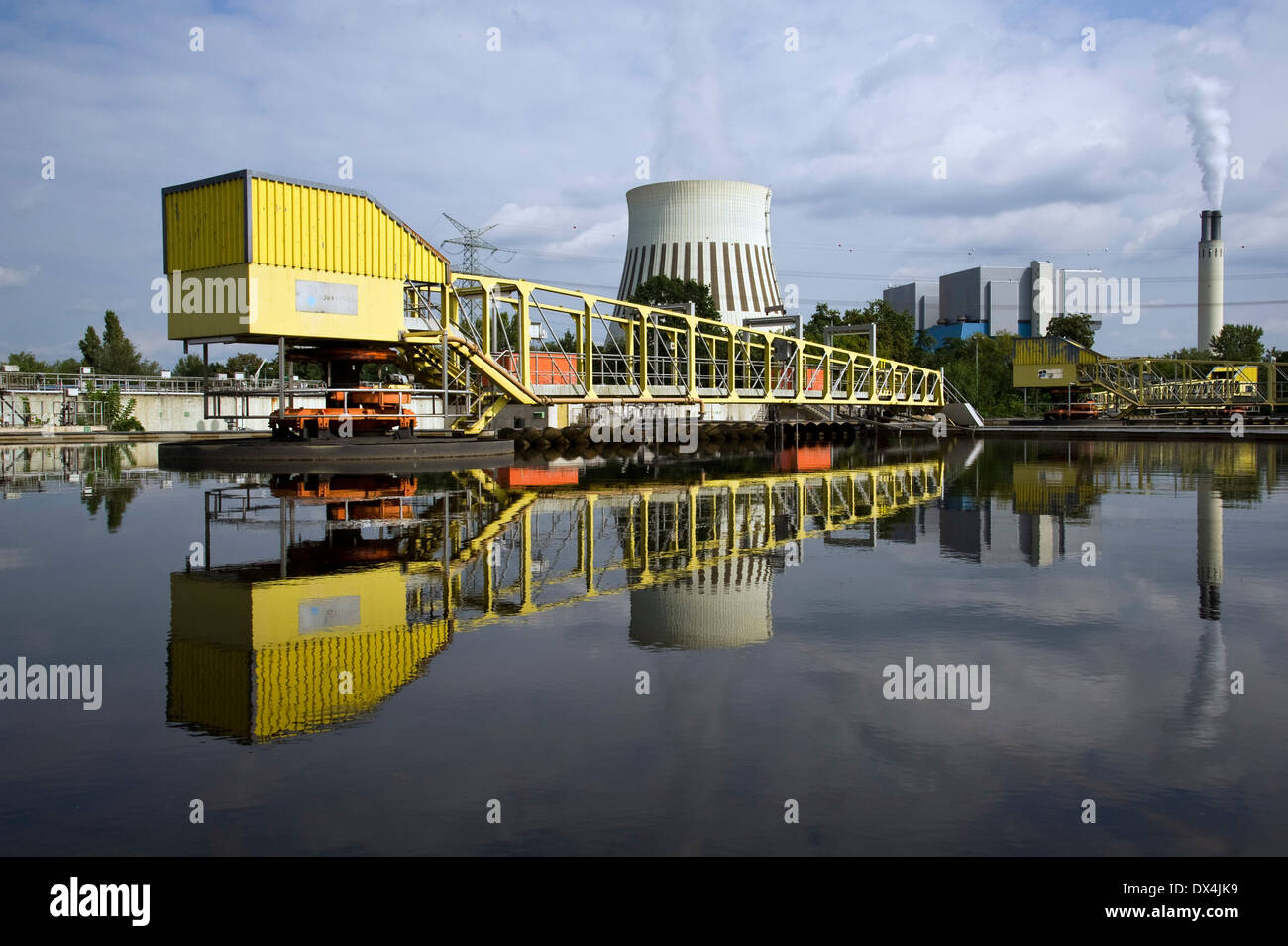 Ruhleben sewage treatment plant - Stock Image