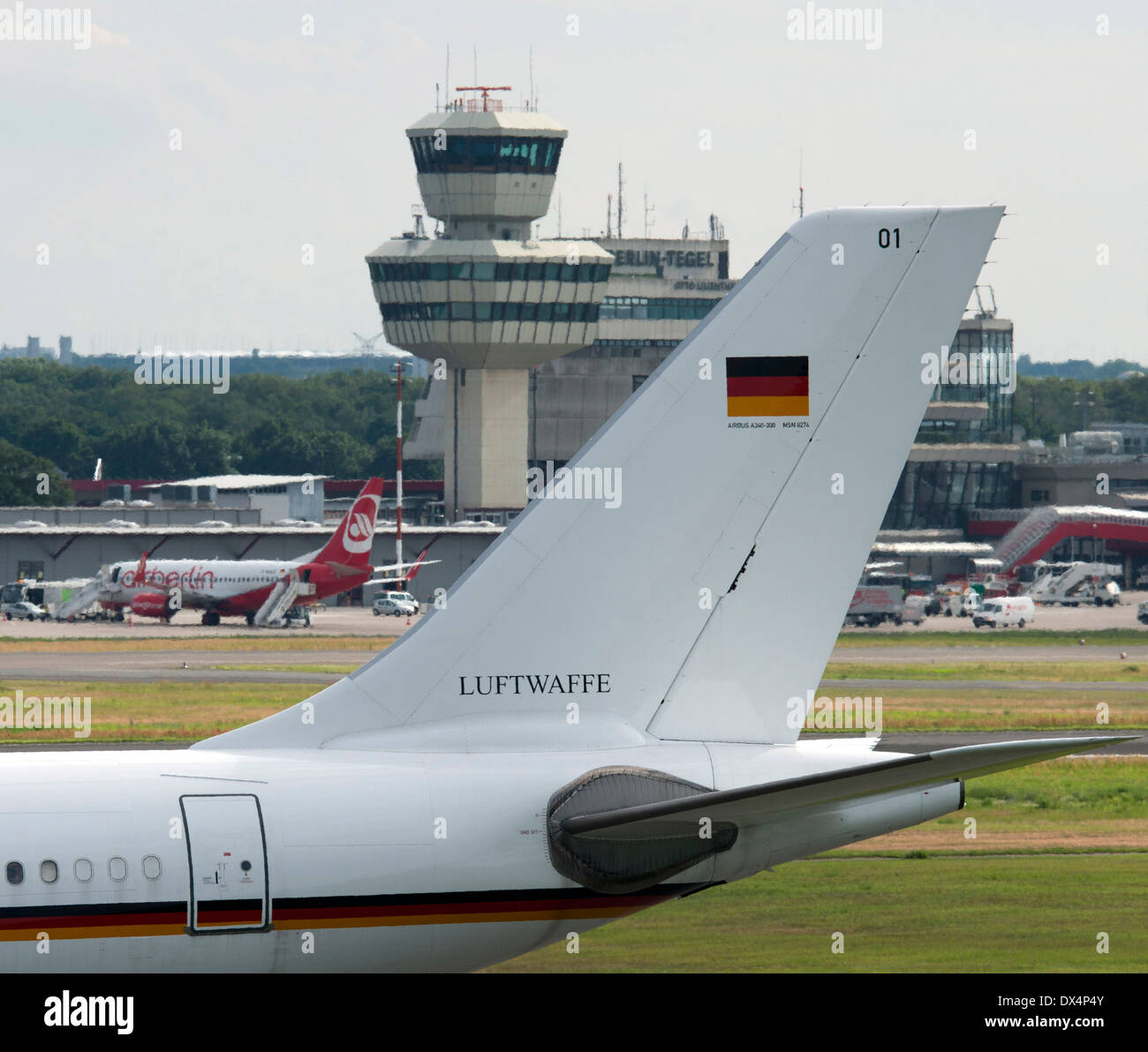 Airbus A340 flight readiness - Stock Image